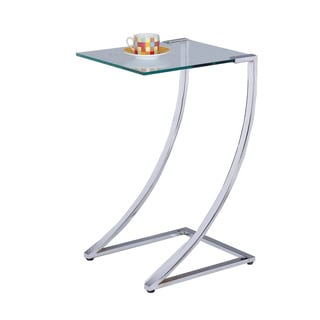 LYKE Home Chrome Squared End Table