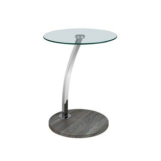 LYKE Home Round Wood End Table