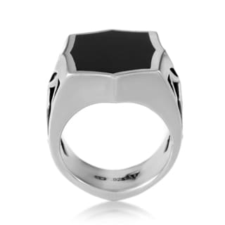 Stephen Webster Men's Sterling Silver Onyx Signet Ring