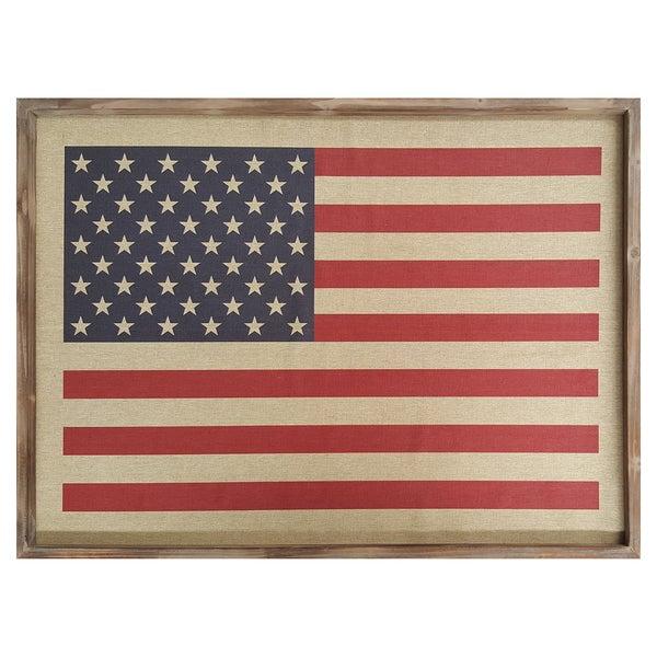 Shop Stratton Home Decor American Flag Wall Art - Free Shipping ...