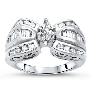 Noori 14k Gold 1ct TDW Marquise Diamond Engagement Ring (I-J, I1-I2)