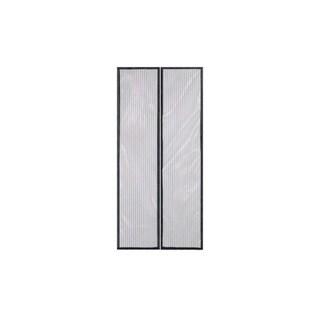 Black Mesh Magnetic Hands-free Screen Door