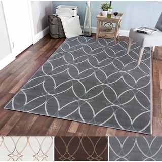 Plaza Brazil Ivory/Grey/Brown Olefin Area Rug (5'3 x 7'3)