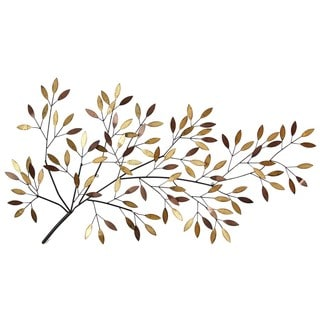 Stratton Home Decor Blooming Tree Branch Multicolor Metal Wall Decor