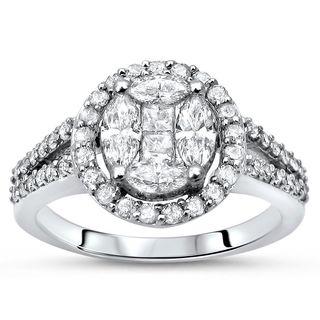 Noori 14k Gold 1ct TDW Marquise Princess-cut Diamond Engagement Ring (I-J, I1-I2)