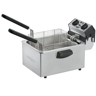 Waring Commercial WDF75RC Countertop Compact Electric Deep Fryer, Stainless Steel (Refurbished)