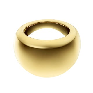 Calvin Klein Women's Ellipse Stainless Steel Yellow Gold PVD Coated Fashion Ring
