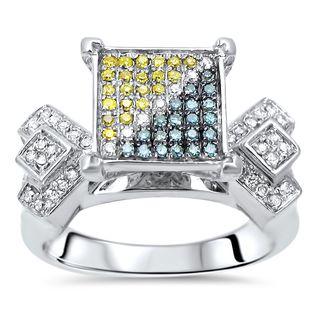 Noori 10k Gold 1/2ct TDW Canary Yellow Diamond Engagement Ring (I-J, I2-I3)