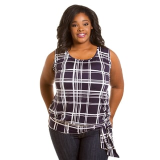 Sealed with a Kiss Women's Plus Size Tania Band Tank