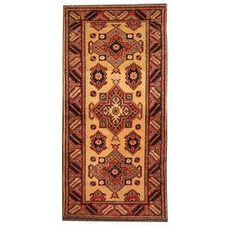 Herat Oriental Afghan Hand-knotted Tribal Super Kazak Wool Rug (2'7 x 5'1)