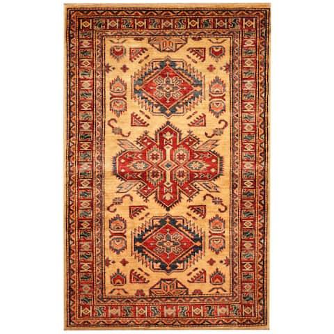 Handmade One-of-a-Kind Super Kazak Wool Rug (Afghanistan) - 2'10 x 4'6