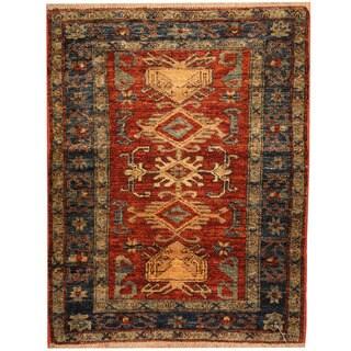 Herat Oriental Afghan Hand-knotted Tribal Kazak Wool Rug (2'8 x 3'6)