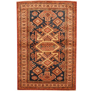 Herat Oriental Afghan Hand-knotted Tribal Super Kazak Wool Rug (2'7 x 4')