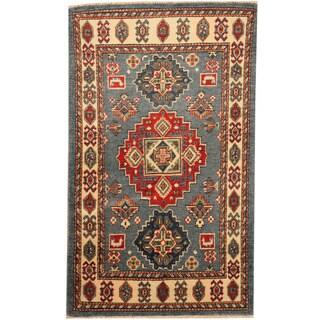 Herat Oriental Afghan Hand-knotted Tribal Kazak Wool Rug (2'7 x 4'3)