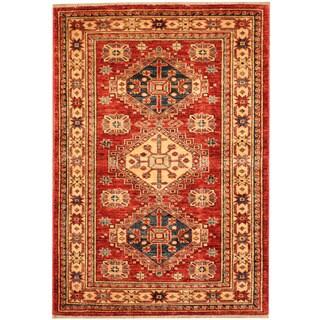 Herat Oriental Afghan Hand-knotted Tribal Super Kazak Wool Rug (2'9 x 4')