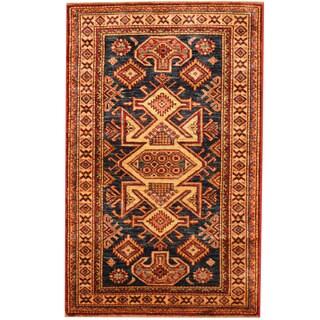 Herat Oriental Afghan Hand-knotted Tribal Super Kazak Wool Rug (2'7 x 4'2)