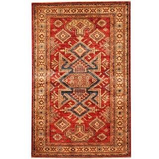 Herat Oriental Afghan Hand-knotted Tribal Super Kazak Wool Rug (2'8 x 4'1)