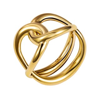Calvin Klein Enlace Stainless Steel Yellow Gold PVD-coated Women's Fashion Ring