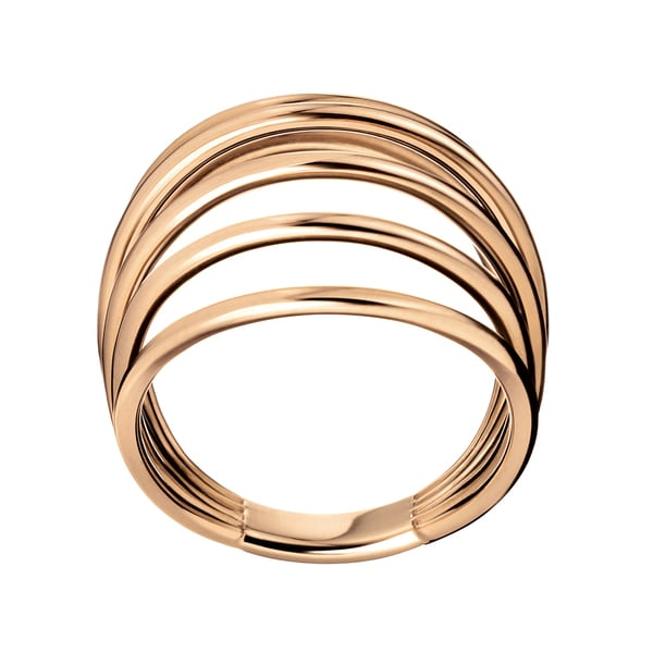 b038b2f77f Shop Calvin Klein Fly Rose Gold Stainless Steel PVD-coated Women s Fashion  Ring - On Sale - Free Shipping On Orders Over  45 - Overstock - 12861509