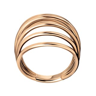 Calvin Klein Fly Rose Gold Stainless Steel PVD-coated Women's Fashion Ring