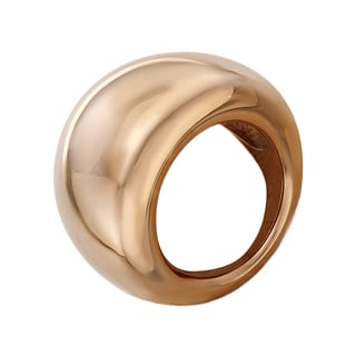 Calvin Klein Ellipse Stainless Steel Rose Goldtone PVD Coated Women's Fashion Ring