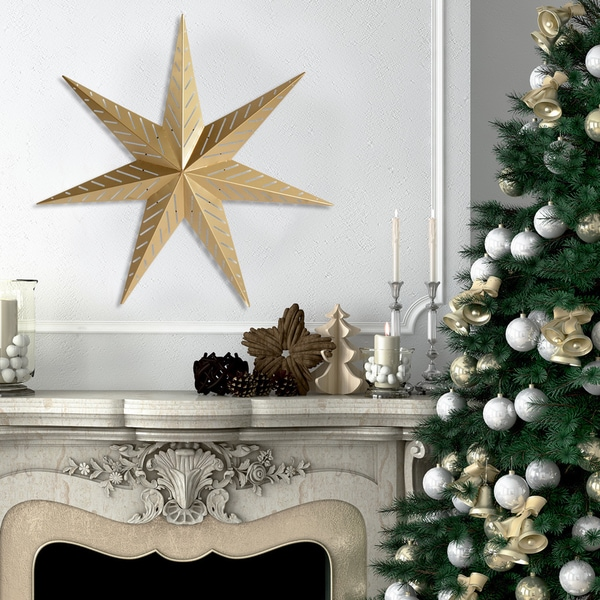 Stratton Home Decor Gold Metal Star Wall Art