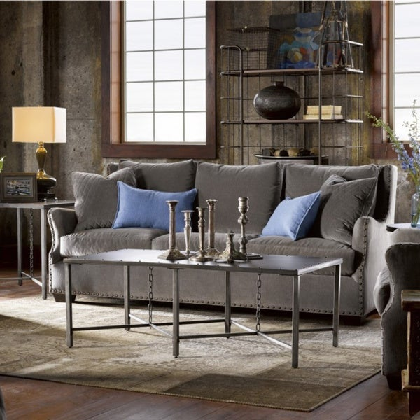 Industrial Grey Driftwood Open Coffee Table: Shop Curated Industrial Eliston Grey Metal Coffee Table