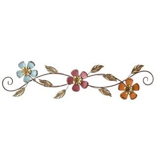 Stratton Home Decor Floral Scroll Wall Decor