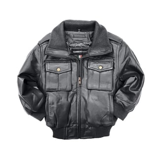 Tanners Avenue Riley Kid's Black Leather Jacket