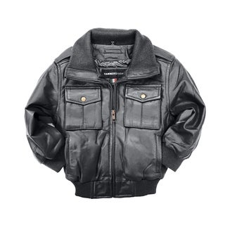 Riley Kid's Black Leather Jacket