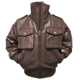 Kids' Riley Brown Leather Jacket