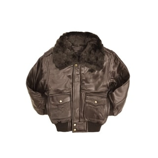 Tanners Avenue Maverick Brown Leather Kid's Jacket
