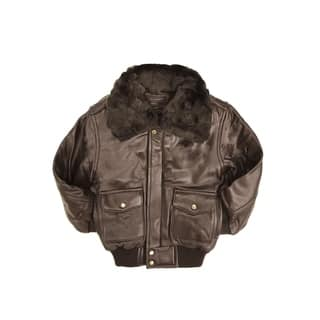 Brown Kid's Leather PIlot Jacket|https://ak1.ostkcdn.com/images/products/12861549/P19623646.jpg?impolicy=medium