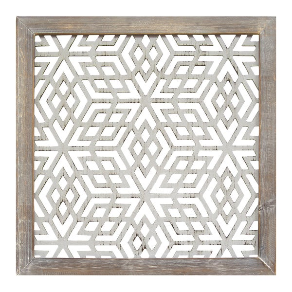 Wood Framed Metal Wall Art Stratton Home Decor Distressed Grey Wood Framed Lasercut Metal
