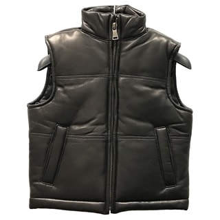 Tanners Avenue Kids' Black Leather Padded Vest