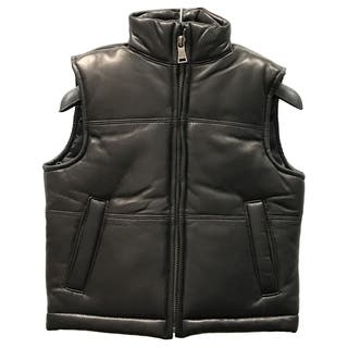 Kids' Black Lamb Leather Padded Vest|https://ak1.ostkcdn.com/images/products/12861551/P19623647.jpg?impolicy=medium