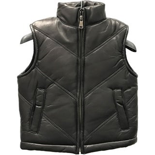 Kids' Black Lamb Leather Chevron Vest|https://ak1.ostkcdn.com/images/products/12861553/P19623648.jpg?_ostk_perf_=percv&impolicy=medium