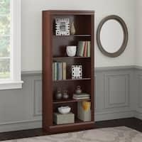 Bush Furniture Saratoga 5 Shelf Bookcase in Harvest Cherry