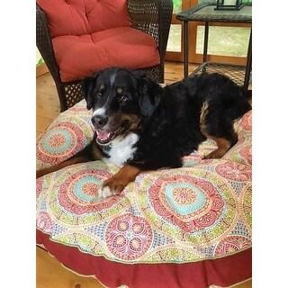 Snoozer Delancy Indoor/Outdoor Multicolor Polyester Round Pet Bed