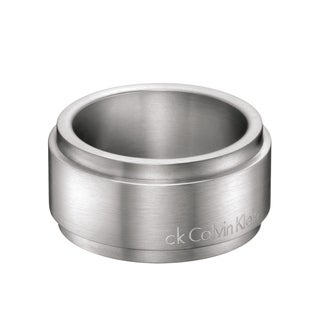Calvin Klein Strong Men's Silvertone Stainless Steel Fashion Ring