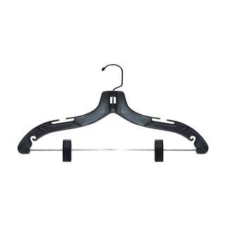 Black Plastic 17-inch Suit Hanger