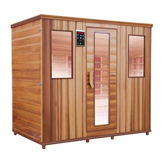 Health Mate Therapy Lounge Infrared 5 Person Canadian Western Red Cedar Sauna / HM-NSE-5-CD-CL