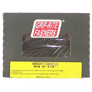 "Grip Rite PTN325B 3"" Grey Coarse Thread Exterior Screws w/ Bugle Head 25# Bucket"