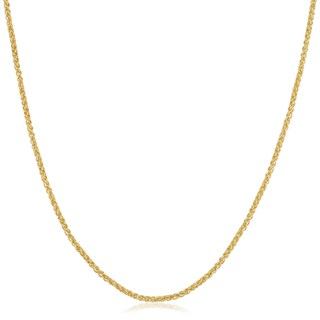 Fremada Yellow Gold Filled 1.5mm Round Wheat Chain Necklace (More options available)