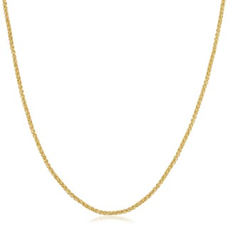 14k Yellow Gold Filled 1.5mm Round Wheat Chain Necklace (16-36 inch)