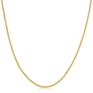 14k Yellow Gold Filled 1.5mm-round Wheat Chain Necklace (16-36 inch)