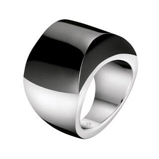 Calvin Klein Sensory Black Stainless Steel Women's Fashion Ring