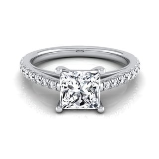 14k White Gold 1 1/4ct TDW Round Diamond Classic 4 Prong Engagement Ring (H-I, VS1-VS2)