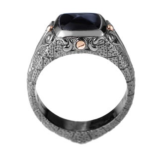 Stephen Webster 'London Calling' White Sterling Silver Onyx Ring