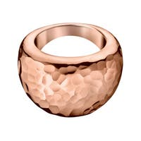 Calvin Klein Dawn Stainless Steel Rose Goldtone PVD Coated Women's Fashion Ring